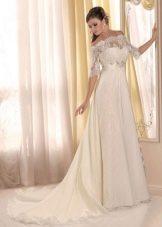 Платье в стиле ампир свадебное с кружевом