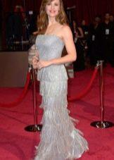 Платье с бахромой в стиле ретро вечернее