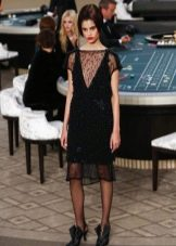 Платье Шанель в стиле ретро вечернее