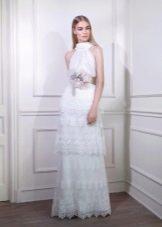 Платье в стиле ретро с американской проймой многослойное