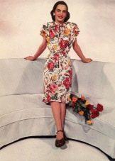 Платье в стиле 40-х  цветное