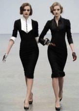Платье в стиле 40-х с воротником