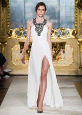 Платье в стиле ретро с американской проймой сразрезом