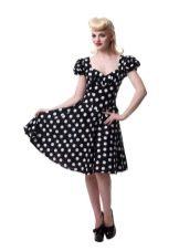 Платье в стиле ретро в горошек