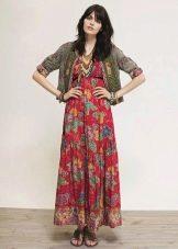 Платье сарафан в стиле хиппи