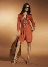 Платье-сафари в стиле ретро
