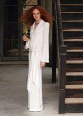 Платье  в стиле ретро свадебное в пол