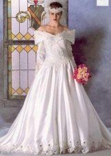 Платье  в стиле ретро 80-х свадебное