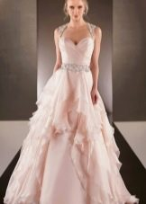 Подвенечное платье розовое