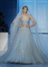 Подвенечное платье голубое