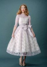 Подвенечное платье сиреневое