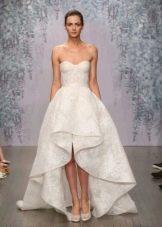 Приталенное  платье свадебное хай-лоу