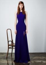 Приталенное  платье вечернее с разрезом