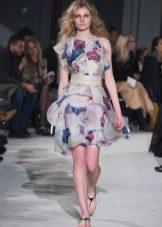 Приталенное  платье летнее цветное