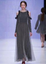Приталенное платье  с вырезами на рукаве