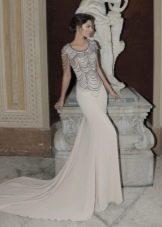 Приталенное  платье русалка