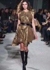 Приталенное платье короткое с поясом