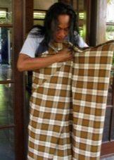 Саронг в Бирме - способ завязывания