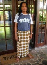 Саронг- способ завязывания на поясе в Бирме