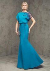 Платье с рукавом летучая мышь вечернее