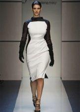 Зимнее платье для полных белое