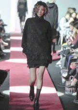 Зимнее платье-свитер вязаное
