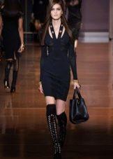 Летняя обувь к черному платью