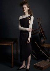 Водолазка к черному платью