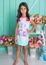 платье-туника для девочек 3-5 лет
