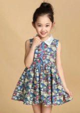 платье-рубашка для девочек 6-8 лет