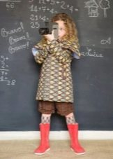 Цветное платье-трапеция для девочек 3-5 лет