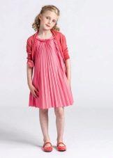 Летнее платье для девочек плиссе