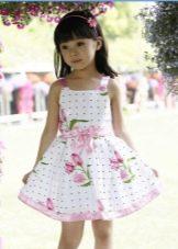платье на бретелях для девочек 3-5 лет