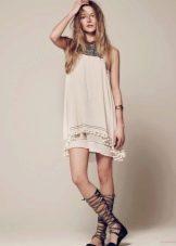 Платье в стиле бохо для девочек 12-14 лет
