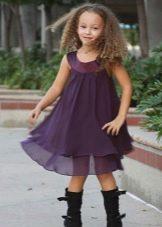 Летнее шифоновое платье для девочек