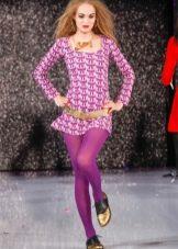 Фиолетовые колготы к фиолетовому платью