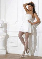 Колготы под короткое свадебное платье