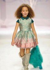 Платье А-силуэта короткое для девочки