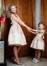 Пышное платье для девочки и мамы