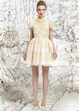 Платье белое в стиле беби долл короткое для девочки