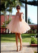 Платье с завышенной талией в стиле беби долл короткое для девочки