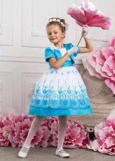 Голубое бальное платье для девочки