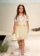 Летнее нарядное платье для девочек с пышной юбкой