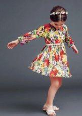 Дизайнерское летнее платье для девочки