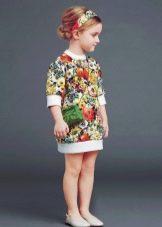 Прямое летнее платье для девочки 4 лет