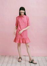 Платье-рубашка летнее для девочек 12-14 лет