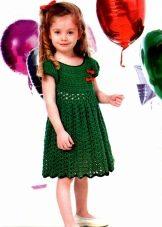 Летнее вязаное платье для девочек 6 лет