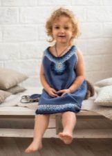 Летнее вязаное платье для девочек 4 лет