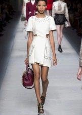 Модное платье 2016 года с короткой юбкой