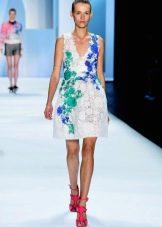 Модное миди платье сезона весна-лето 2016 года с веточным принтом